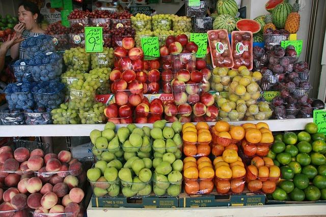 frutta a Tel Aviv